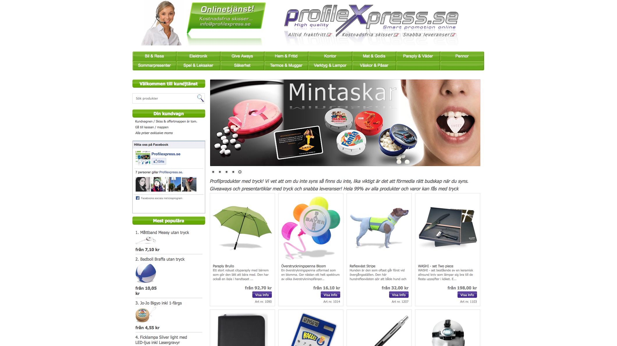 profilprodukter med tryck
